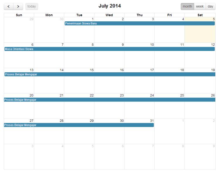 Full Calendar    PHPBego_20140705144228